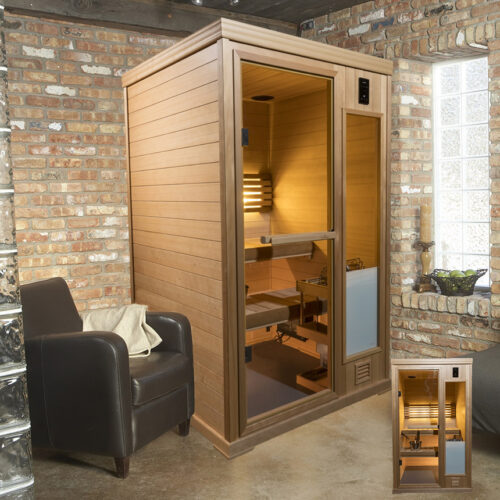 finished personal sauna